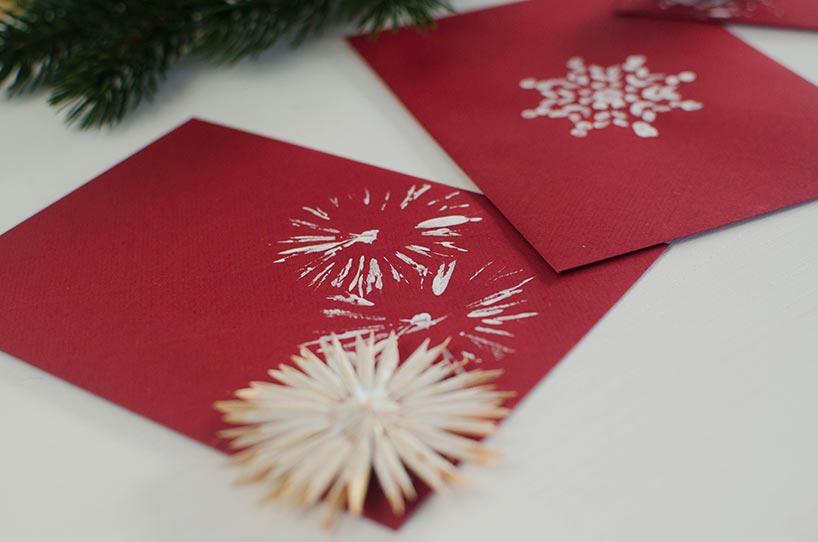 diy selbstgemachte weihnachtskarten. Black Bedroom Furniture Sets. Home Design Ideas
