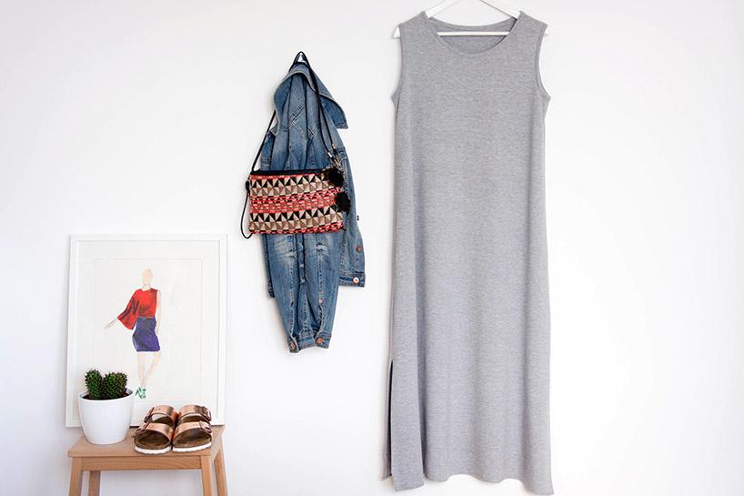 DIY: Anleitung Maxi Jerseykleid nähen - fashiontamtam.com