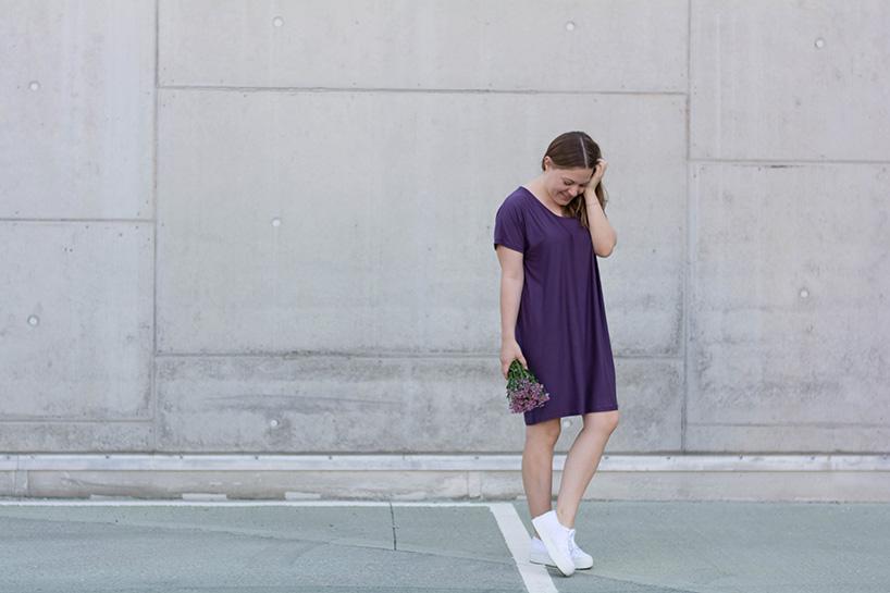 Schnittmuster Damen Kleid #tee Tragefoto