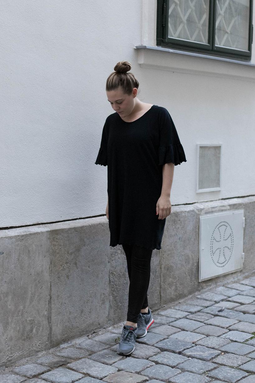 DIY Kleid mit Rüschenärmel nähen