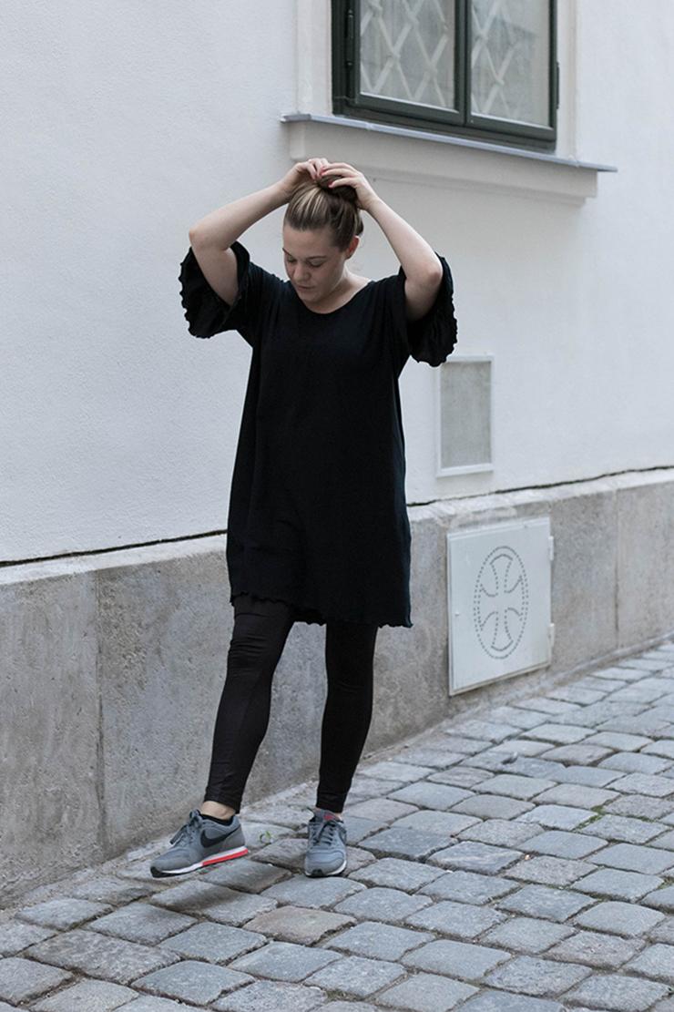 Kleid mit Rüschenärmel nähen