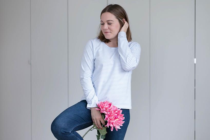 DIY: Shirt mit langen Ärmeln nähen - fashiontamtam.com
