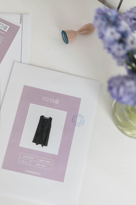 Schnittmuster Weste #cozy Papierschnitt - fashiontamtam.com