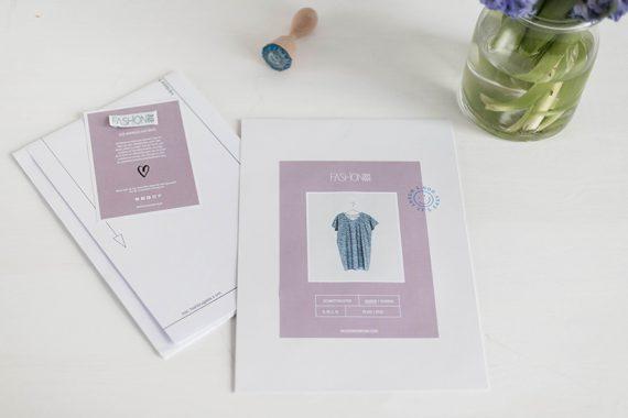 Schnittmuster Damen T-Shirtkleid #tee Papierschnittmuster