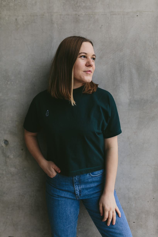 Schnittmuster Damen einfaches T-Shirt #bam Tragefoto