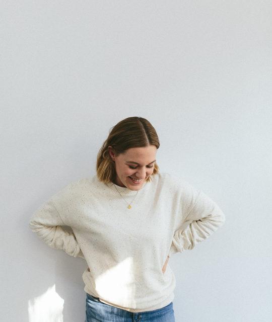 Schnittmuster Buch Alles Jersey Basics Nähen Damen Pullover Tragefoto