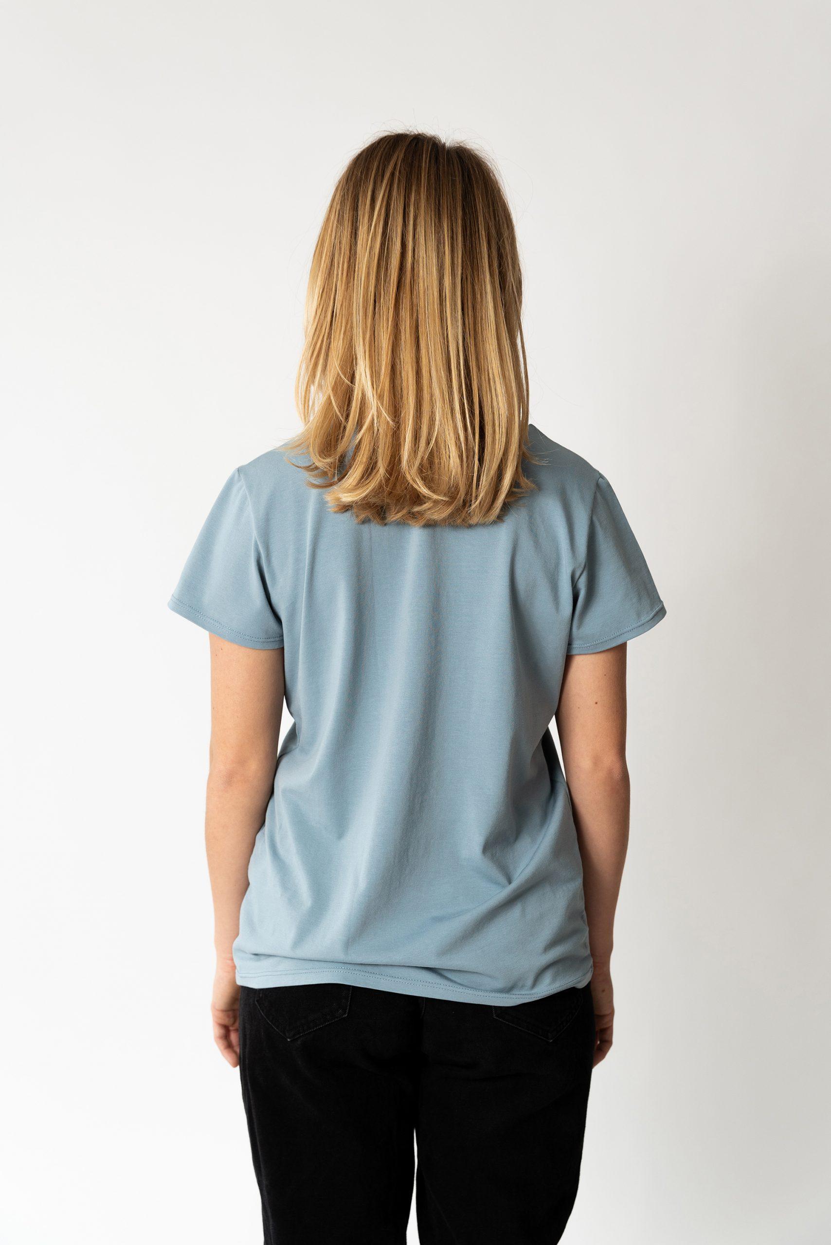 Schnittmuster T-Shirt #swag Tragefoto Model Rückenansicht