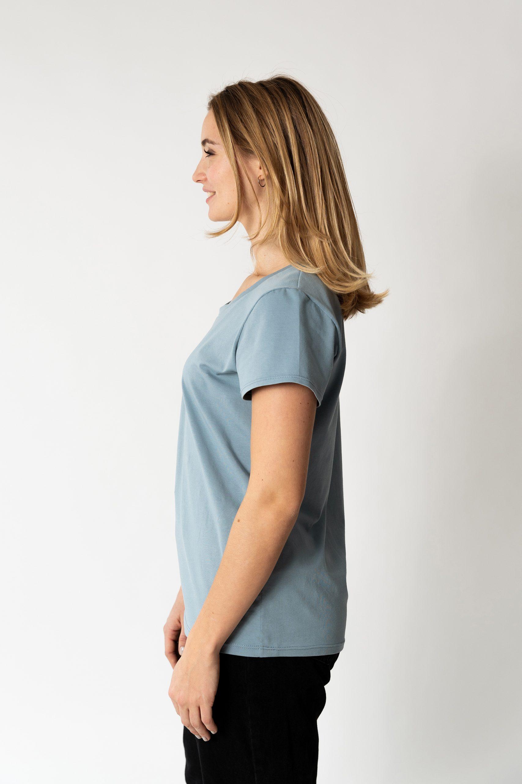 Schnittmuster T-Shirt #swag Tragefoto Seitenansicht Model